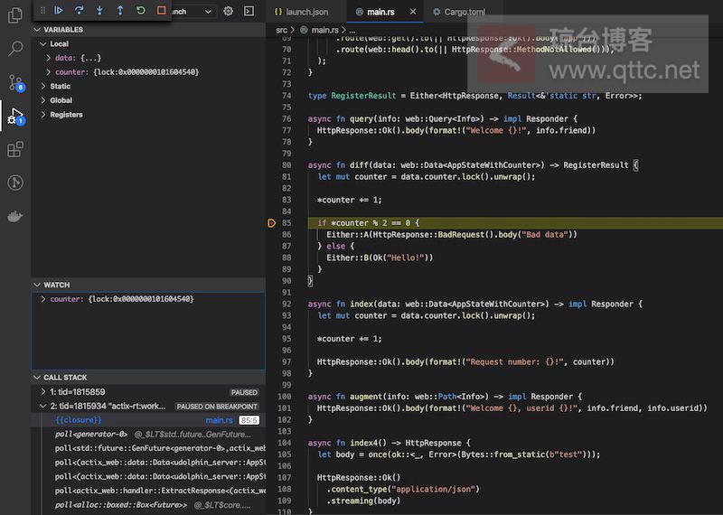 full Debug Rust in VSCode